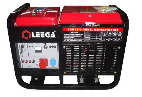 Дизельный генератор АМПЕРОС LDG12 E 3 фазы