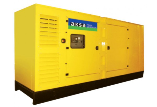 Дизельный генератор Aksa AC-550 в кожухе с АВР