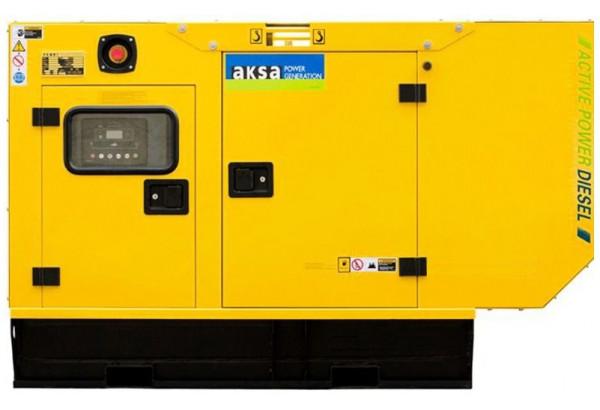 Дизельный генератор Aksa APD33A в кожухе с АВР