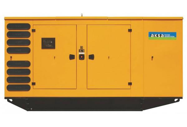 Дизельный генератор Aksa AVP-550 в кожухе с АВР