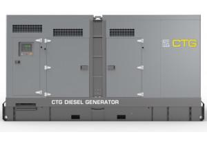 Дизельный генератор CTG 275C в кожухе с АВР