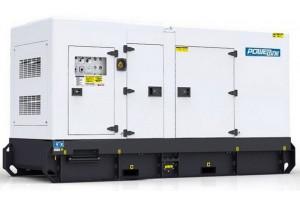 Дизельный генератор PowerLink GMS250CLS в кожухе