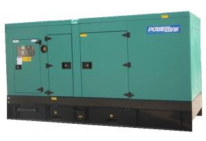 Дизельный генератор PowerLink GMS250PXS в кожухе с АВР