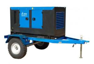Дизельный генератор ТСС ЭД-50-Т400-1РКМ11 в кожухе на шасси