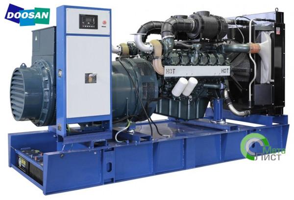 Дизельный генератор АД-600 Doosan DP222LC, 600 кВт